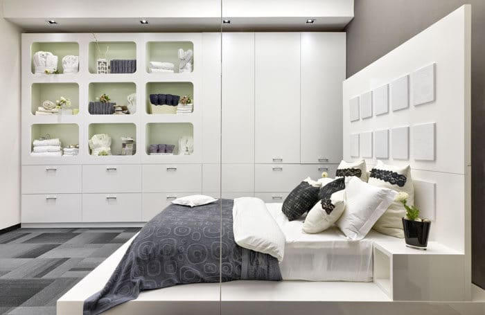 חדר תצוגת טקסטיל במשרדים