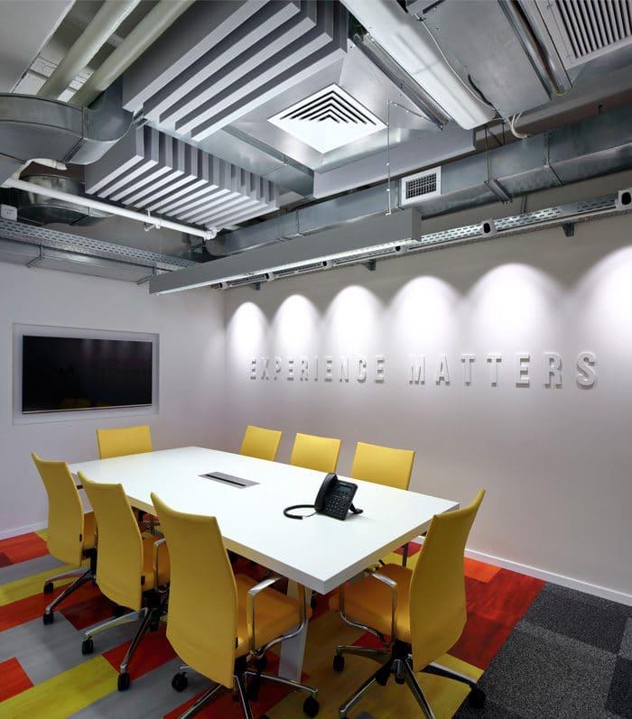 עיצוב חדשני לחדר ישיבות במשרדי חברת היי-טק