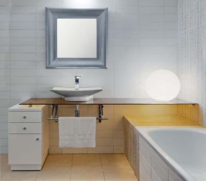 עיצוב מיוחד לשירותים בדירה פרטית