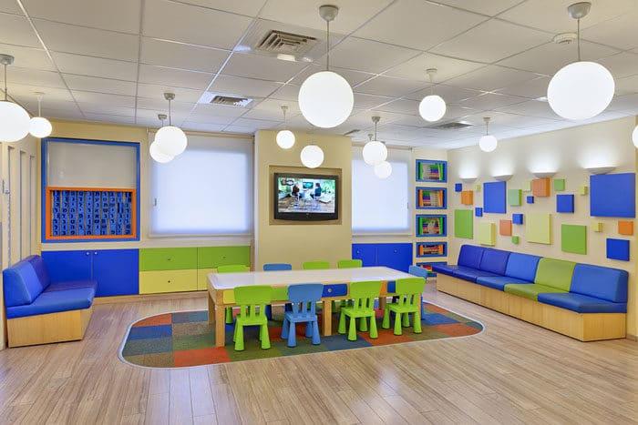 איזור המתנה מיוחד לילדים במרפאת שיניים