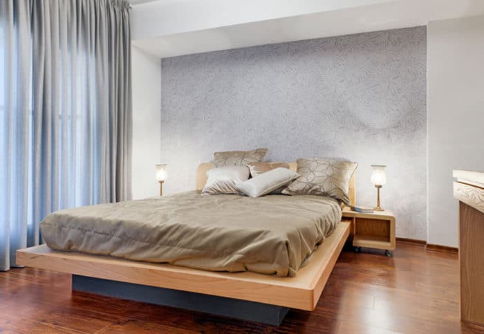 חדר שינה הורים מעוצב בגמר עץ