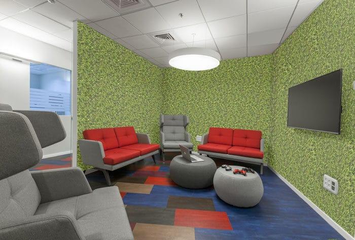 עיצוב חדר משחקים במשרדי חברת סטארטאפ