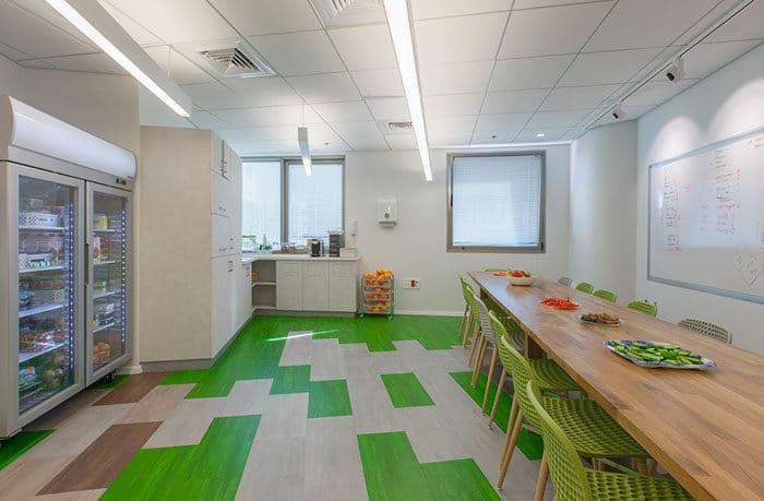 עיצוב מטבח שיתופי במשרדים