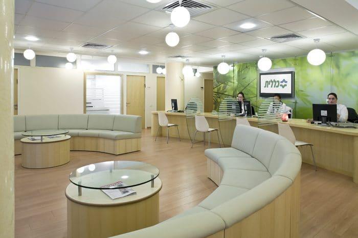 עיצוב דלפק קבלה בקופת חולים כללית