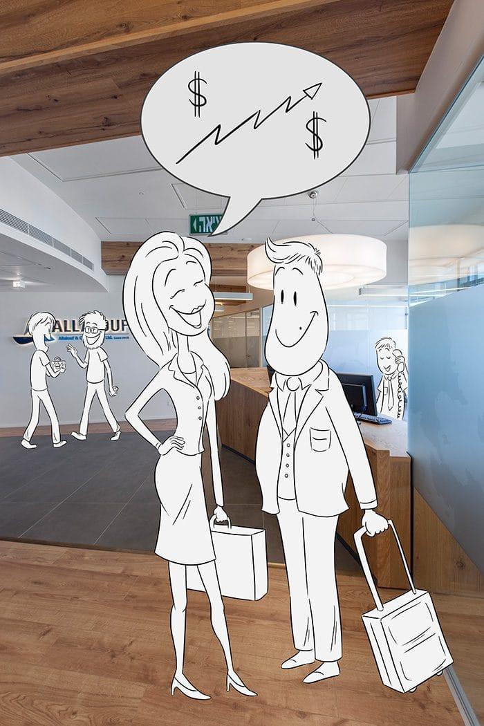 עיצוב משרדים וחלל כניסה למשרדים