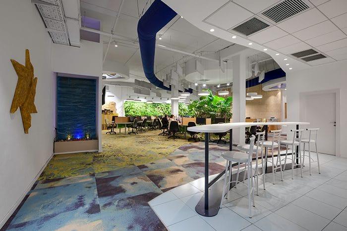 עיצוב משרדי ישראייר המשדרים טבע