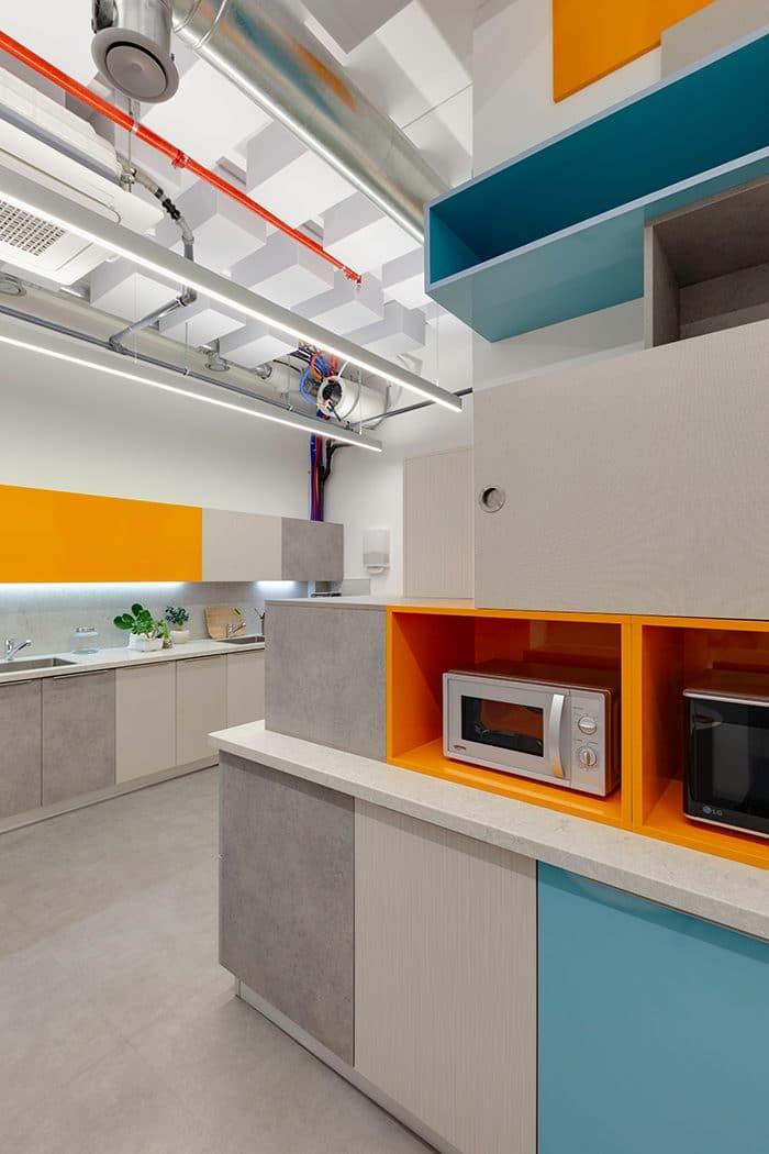 עיצוב מזמין במטבחון משרדי