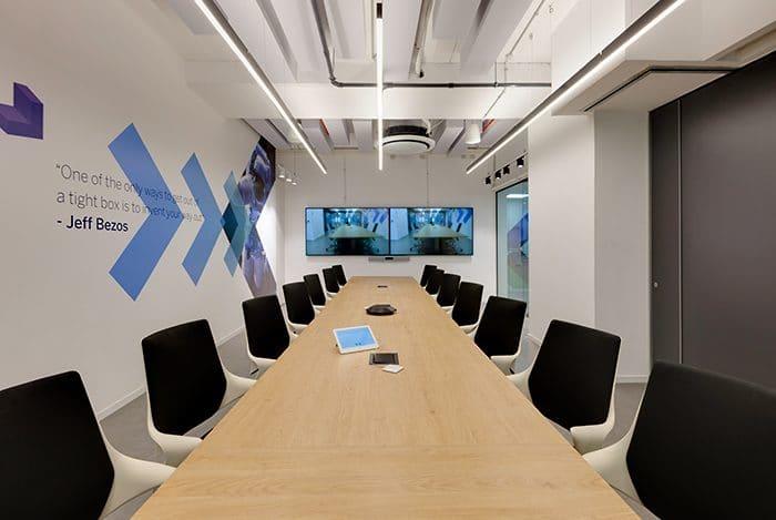 עיצוב משרדים עם חדר ישיבות גדול