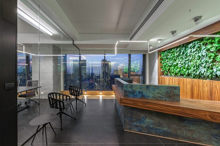 Entrance design with biophilic elements