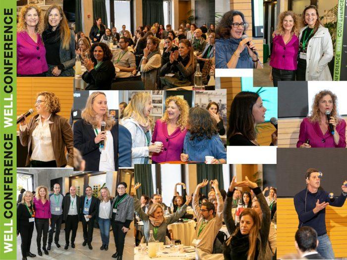 קולאז' מכנס שדן בהשפעת עיצוב סביבת העבודה על הצלחה פיננסית וארגונית של חברות